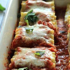 Skinny Vegetable Lasagna Rolls HealthyAperture.com