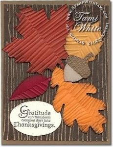 Stampin' Up! Autumn Accents Fall / Thanksgiving card with video tutorial