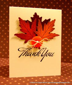 Handmade by G3: Beautiful Fall thank you card