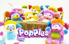 Popples! The stuffed animal and the cartoon.