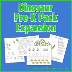 Dinosaur Pre K Pack Expansion from www.overthebigmoon.com!