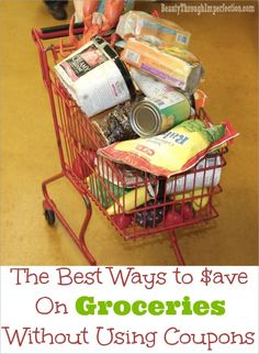 GREAT ideas, showing you how to save a TON of money on groceries without needing to clip a bunch coupons or spend lots of time on it!