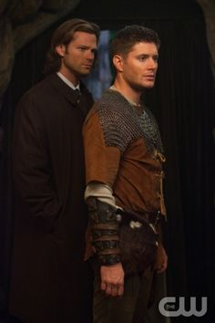 "Supernatural -- ""LARP and the Real Girl"" -- Image SN811b_0374 -- Pictured (L-R): Jared Padalecki as Sam, Jensen Ackles as Dean -- Credit: Liane Hentscher/The CW -- © 2012 The CW Network. All Rights Reserved"