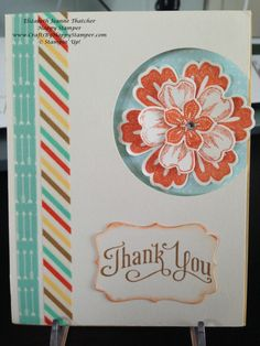 Stampin Up Mixed Bunch and Flower Shop thank you card