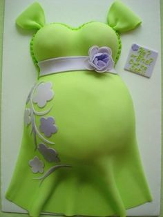 Gender Surprise Belly Cake ~ love!