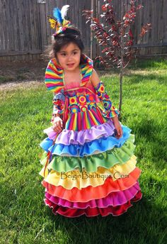 Pageant Rainbow Wear Candyland OOC Casual Wear National custom 12m 2 3 4 5 6 bigger sizes are available. $300.00, via Etsy.