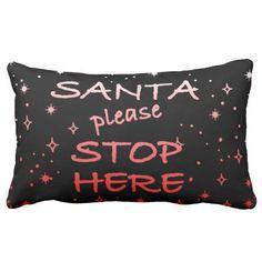 Santa Sign Throw Pillow #Christmas #pillows