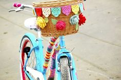 How to Crochet Bicycle Basket Bunting....freebie tute, thanks so for share xox