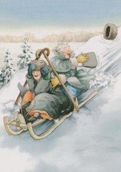 winter, ing löök, age, art, fun