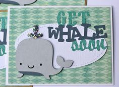 cricut card, whale, well card, paper cricut, rock paper