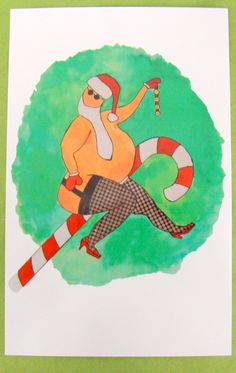 Santa's feelin' sassy in his fishnets.