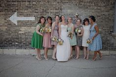 fun mix and match bridesmaid dresses  Photography By / http://andamarie.com