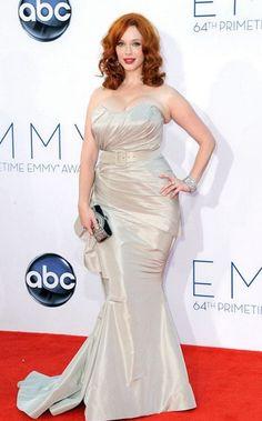 Christina Hendricks no Emmy Awards de 2012.
