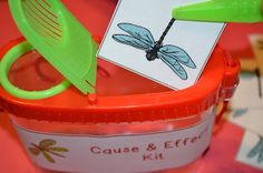 Create cause and effect kits for your students using Dollar Store goodies!  Click the image for illustrated ideas.