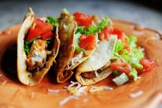 Chicken tacos from the Pioneer Woman.