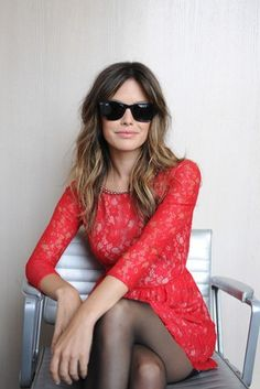 lace dress and shades