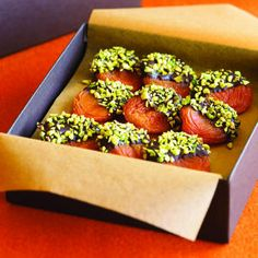 Chocolate-Pistachio Apricots | Sunset.com