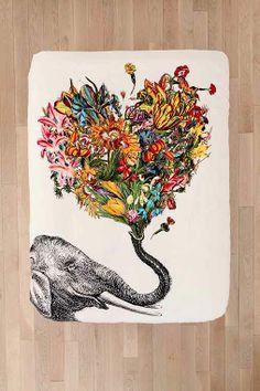 RococcoLA Happy Elephant Duvet Cover