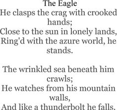 The Eagle By Alfred Lord Tennyson.