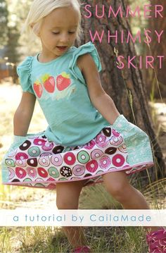 Summer Whimsy Skirt: A Tutorial // by CailaMade