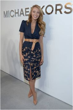 #CelebrityStreetStyle #blakelively The ten chicest looks from Fall 2014 NYFW - see our roundup here!