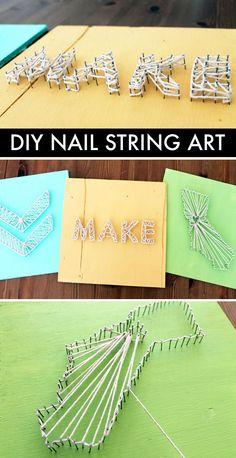 DIY Basics: Nail String Art