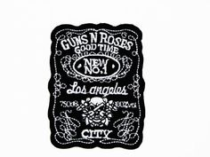 Applique embroidery iron patch Guns `n Rose $5.50 #topseller