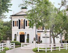 Gorgeous White & Black Federal Style House
