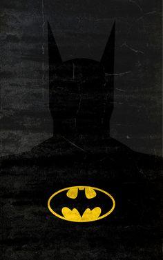 The Dark Knight by TheLinC #comics #illustration #batman #darkknight #minimalist #poster #print
