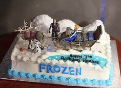 Sisters Disney Frozen Cake | ... 7th birthday. He had a Frozen snowman party. Here are a few photos