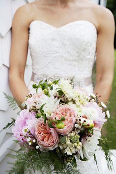 Rustic Narragansett Wedding | See it on SMP New England Weddings: http://www.StyleMePretty.com/rhode-island-weddings/narragansett/2014/02/26/rustic-narragansett-wedding/ Adeline & Grace Photography