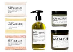 The ultimate bath and body beauty kit by FIG+YARROW, Etsy