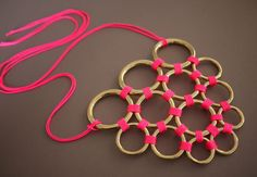 DIY Honeycomb Necklace.