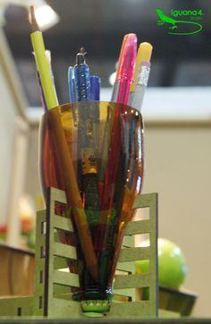 Lapicera de Botella reciclada de vidrio. Línea Bottle + #Upcycling #Reciclaje