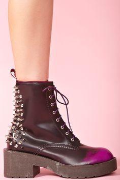 8th Street Spike Boot - Purple Fade