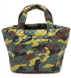 MZ Wallace camo-printed tote with gorgeous quilting. (Also, on sale!)
