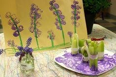 celeri kidart, preschool flower theme, spring flowers, painting flowers, flower crafts