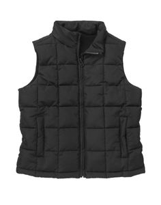 Warm quilted design zips on for instant style on chilly days.