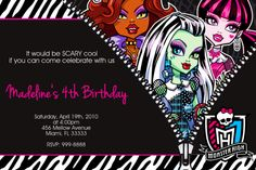 Monster High Birthday Invitation