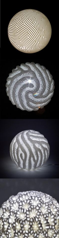 Reaction Lamps - 3d-printed LED lights by Nervous System