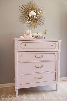 Pink and Gold Chalk Paint Dresser (with DIY chalk paint)