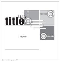 One Page, One Photo Layout, One Horizontal Photo