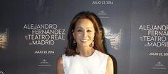 Isabel en el photocall, del concierto de Alejandro Fernandez en el Teatro Real de Madrid