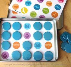 Memory match magnetic game tin. it's a great idea to entertain the kids on trips