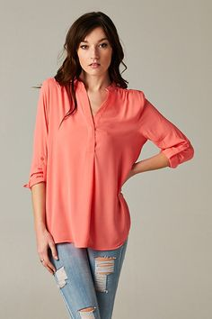Coral Top - perfect for Spring!