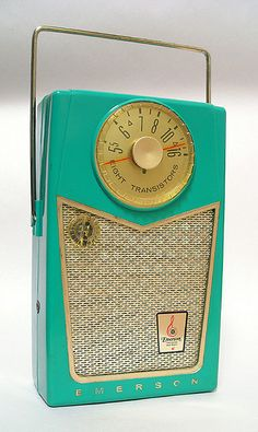 Emerson Pioneer 8 Transistor Radio, 1958 (if they actually played anything good on the radio anymore, I would want one of these!)