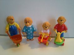 vintage toys 1980s, vintage disney toys, the berenstain bears, happi meal, toys of the 80s, toys of the 80's, bear toys3, 80s happy meal toys, kid