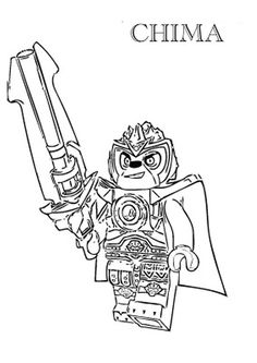 coloring page Lego Chima Lennox