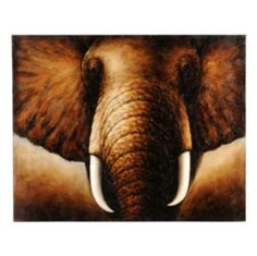 Tusks Canvas Painting