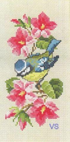 Ellen Maurer-Stroh Counted Cross Stitch Chart SPRING FLOWERS Eyeglass Case #110